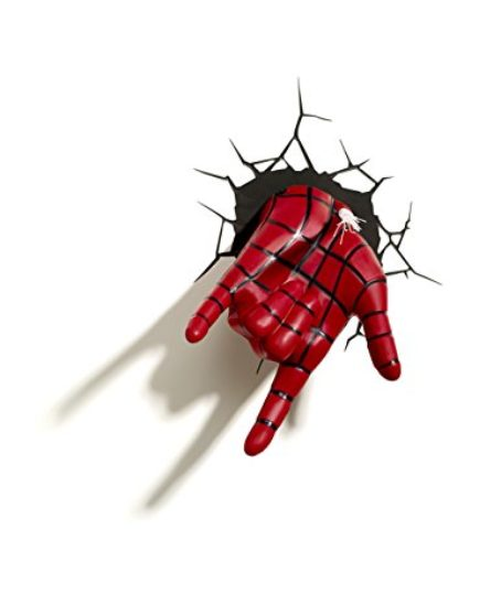 3D-Light-FX-Marvel-Spiderman-Hand-3D-Deco-LED-Wall-LightDiscontinued-by-manufacturer-0-1