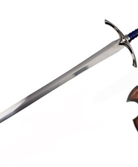 A-Hobbit-Lord-of-the-Rings-LORT-Sword-Medieval-Crusader-Glamdring-Wizard-Sword-of-Gandalf-Display-Plaque-0