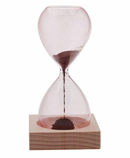 Anself-1pcs-Magnet-Hourglass-Awaglass-Hand-blown-Sand-Timer-Desktop-Decoration-Magnetic-Hourglass-Red-0