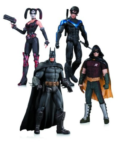 Arkham-City-Harley-Quinn-Batman-Nightwing-Robin-Action-Figure-4-Pack-0