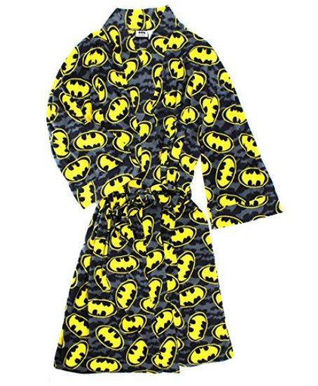 Batman-Mens-Fleece-Bathrobe-Robe-Black-One-Size-0