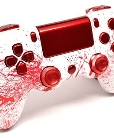 Bloody-Splatter-Ps4-Custom-UN-MODDED-Controller-Aluminum-Thumbsticks-Exclusive-Unique-Design-0-0