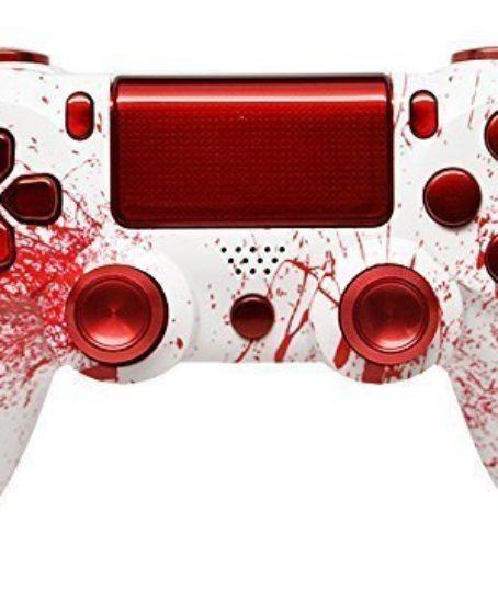 Bloody-Splatter-Ps4-Custom-UN-MODDED-Controller-Aluminum-Thumbsticks-Exclusive-Unique-Design-0