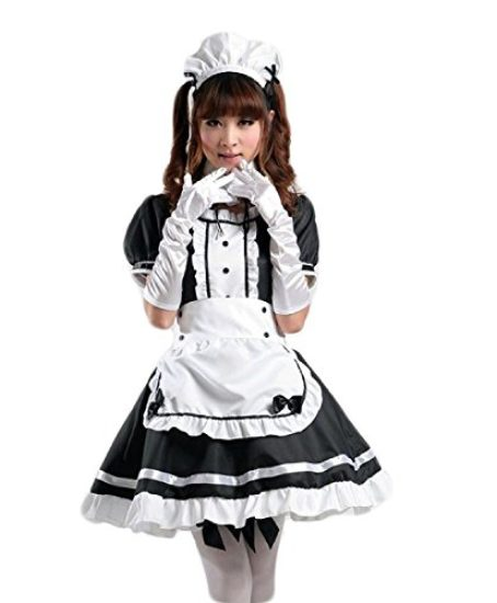 COCONEEN-Womens-Anime-Cosplay-French-Apron-Maid-Fancy-Dress-Costume-0