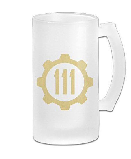 CYANY-FALL-OUT-VAULT-111-Beer-Glass-Frosted-White-Pub-COOL-16-Ounce-Mug-0