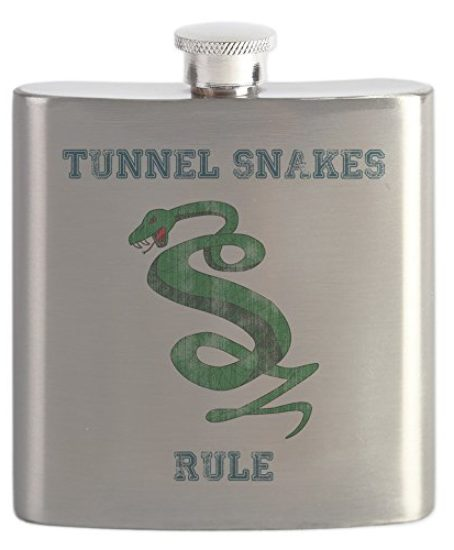 CafePress-Tunnel-Snakes-Rule-Stainless-Steel-Flask-6oz-Drinking-Flask-0