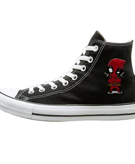 Candyy-Deadpool-Comfortable-Unisex-Flat-Canvas-High-Top-Sneaker-Black-0