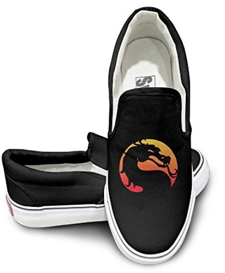 Chalk-Logo-Mortal-Kombat-Video-Game-Unisex-Casual-Shoes-Sneakers-Footwear-Slip-0