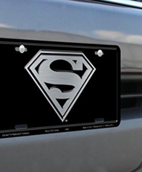 Chroma-001949-Superman-Logo-Metal-Tag-License-Plate-0-0