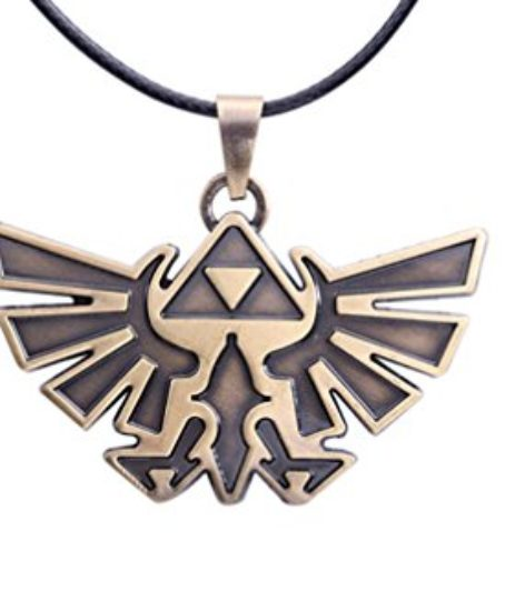 Cosplay-the-Legend-of-Zelda-Link-Symbol-Logo-Metal-Necklace-Pendant-Chain-Bronze-0