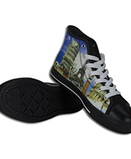 Custom-Imported-Mens-Canvas-Shoes-High-Top-Lace-up-Rubber-Black-Casual-Sneakers-0-2