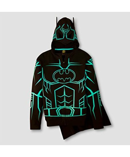 DC-Comics-Batman-Glow-in-The-Dark-Boys-Fleece-Hoodie-Sweater-Detachable-Cape-0-0