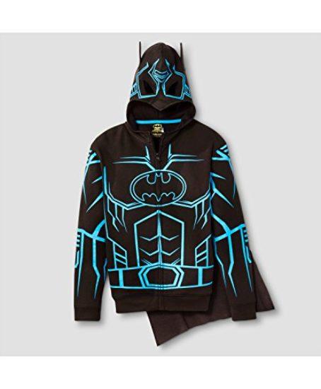 DC-Comics-Batman-Glow-in-The-Dark-Boys-Fleece-Hoodie-Sweater-Detachable-Cape-0