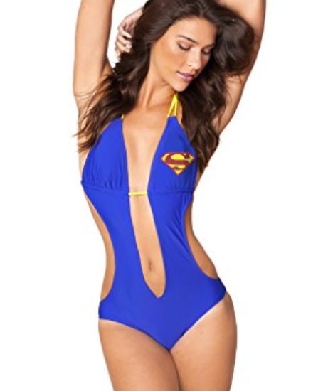 DC-Comics-Sexy-Supergirl-Knot-Plunge-Monokini-One-Piece-Bathing-Suit-0
