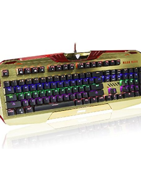 E-Blue-Iron-Man-Gaming-Keyboard-Alu-metal-Mechanical-MARVEL-North-America-Offical-Licensed-0
