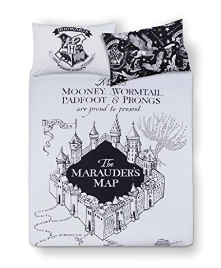 Harry-Potter-Double-or-Queen-HOGWARTS-Duvet-Cover-and-Pillowcases-3-Pc-Set-0