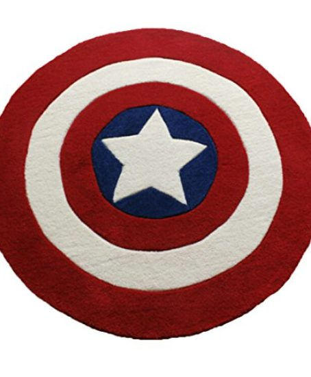 KANGLIDA-Round-Rugs-Captain-America-Shield-Carpet-Office-Circular-Mats-Circular-Living-Room-Bedroom-Carpet-0