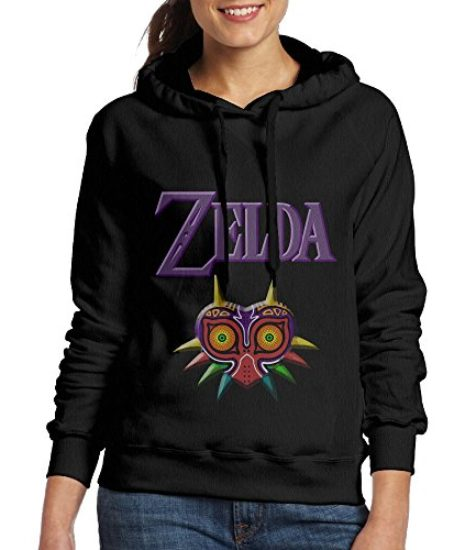 Legend-Of-Zelda-Majora-Mask-Womens-Pullover-Hooded-Hoodie-Sweatshirt-Black-0