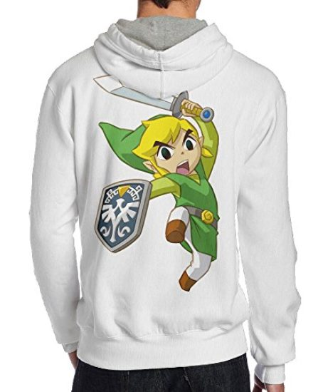 Legend-Of-Zelda-Mens-Pullover-Hooded-Hoodie-Sweatshirt-White-0