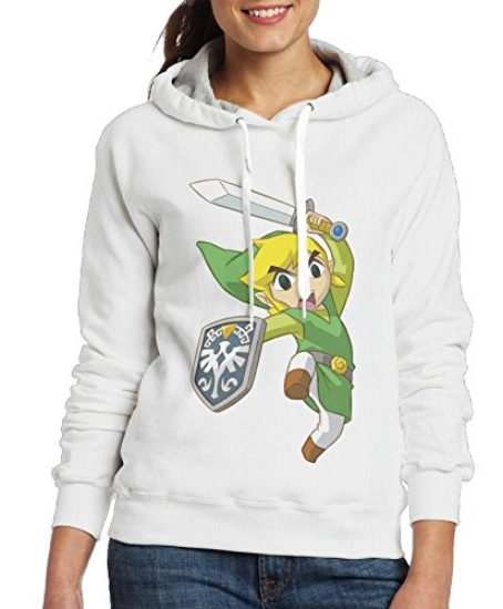 Legend-Of-Zelda-Womens-Pullover-Hooded-Hoodie-Sweatshirt-White-0