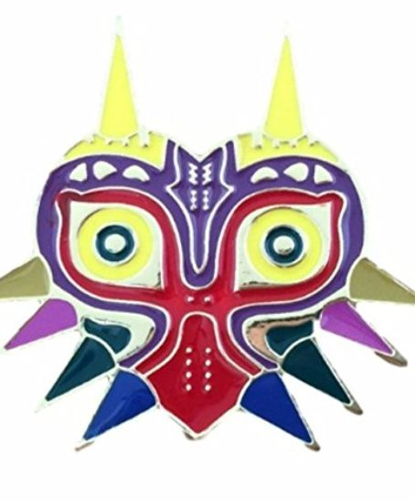 Legend-of-Zelda-Pin-Majoras-Mask-1-12-Tall-MetalEnamel-Pin-0