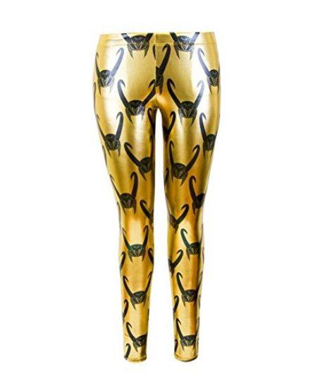 Loki-All-Over-Helmet-Print-Gold-Foil-Juniors-Leggings-0-0