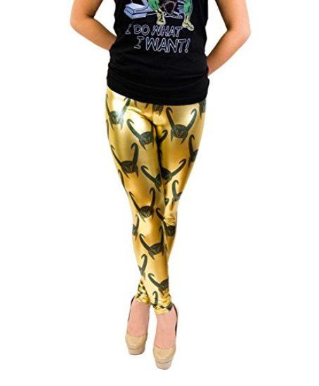 Loki-All-Over-Helmet-Print-Gold-Foil-Juniors-Leggings-0
