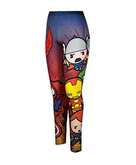 Marvel-Comics-Chibi-Avengers-Stretchy-Womens-Juniors-Leggings-0