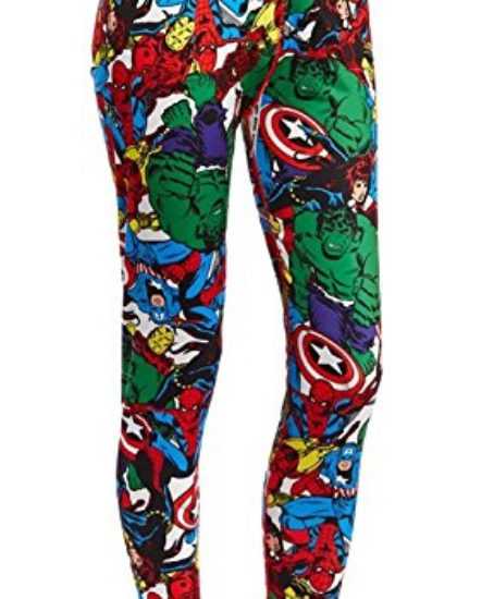 Marvel-Comics-Heroes-Warm-Underwear-SEPARATES-Womens-Juniors-Stretch-Leggings-and-Top-Separates-0
