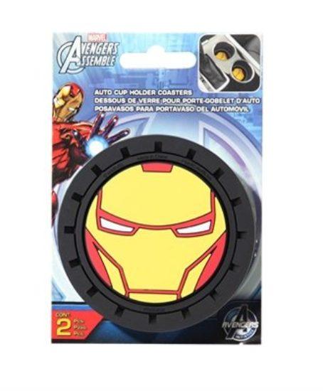 Marvel-Iron-Man-Heavy-Duty-Rubber-Auto-Cup-Coaster-2-pc-0