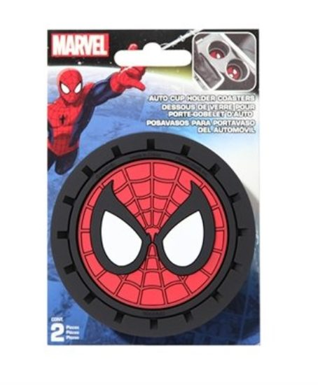 Marvel-Spiderman-Heavy-Duty-Rubber-Auto-Cup-Coaster-2-pc-0