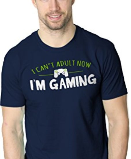 Mens-Cant-Adult-Today-Im-Gaming-Funny-Nerd-Video-Gamer-T-shirt-Navy-0-0