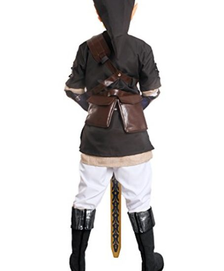 Miccostumes-Mens-the-Legend-of-Zelda-Link-Cosplay-Costume-Large-Black-and-White-0-0
