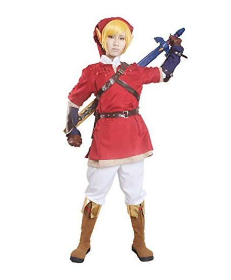Miccostumes-Mens-the-Legend-of-Zelda-Link-Cosplay-Costume-Red-0