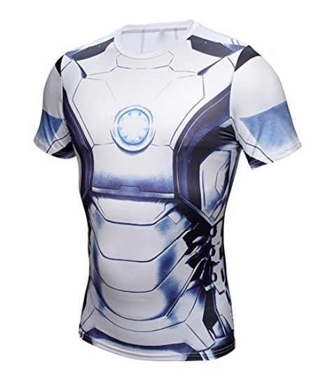 NEW-Avengers-Iron-Man-Superhero-Costume-Slim-Fit-T-Shirt-Athletic-Cycling-Jersey-0-0