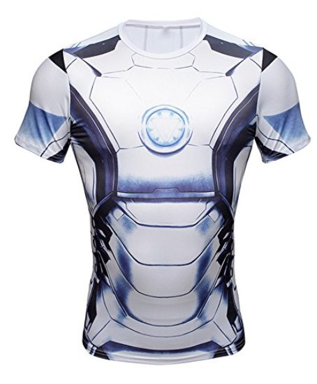 NEW-Avengers-Iron-Man-Superhero-Costume-Slim-Fit-T-Shirt-Athletic-Cycling-Jersey-0