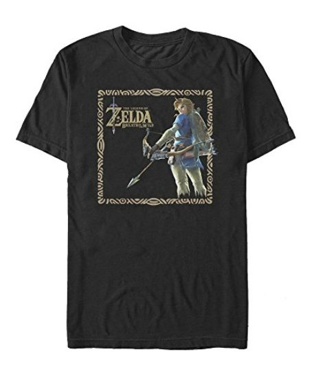Nintendo-Legend-of-Zelda-Breath-of-Wild-Frame-Mens-Graphic-T-Shirt-0