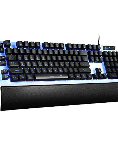 Pictek-Mechanical-Feel-Gaming-Keyboard-Wired-LED-Gaming-Keyboards-USB-Wired-Keyboard-with-7-Color-Backlit-26-Anti-ghosting-Keys-for-Gamers-Office-0