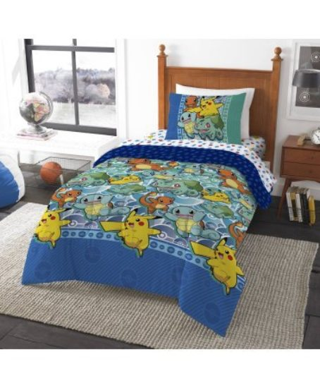 Pokemon-First-Starters-Twin-Bed-in-a-Bag-Bedding-Set-Comes-with-Comforter-Pillowcases-and-Sheets-0
