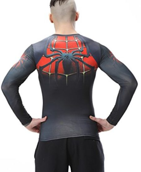 Red-Plume-Mens-Compression-Sport-Fitness-ShirtSpider-Long-Sleeve-T-shirt-0-0