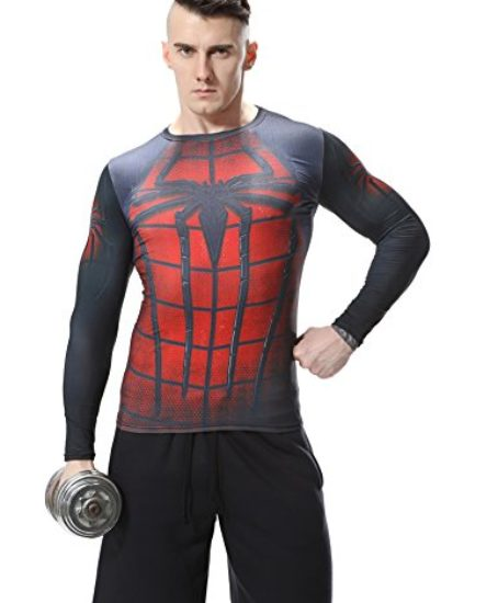 Red-Plume-Mens-Compression-Sport-Fitness-ShirtSpider-Long-Sleeve-T-shirt-0