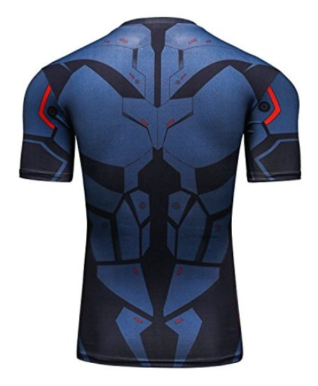 Red-Plume-Mens-Compression-Sport-Tight-Cool-Fashion-Bat-Running-T-Shirt-0-0