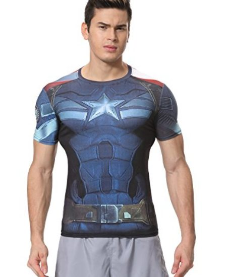 Red-Plume-Mens-Compression-Sports-Fitness-Shirt-Armor-America-Teamleader-T-shirt-0