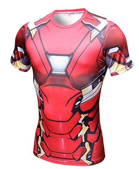 Superhero-Avengers-Iron-Man-3D-Mens-T-Shirt-Marvel-Costume-Gym-Cycling-Jersey-0-0