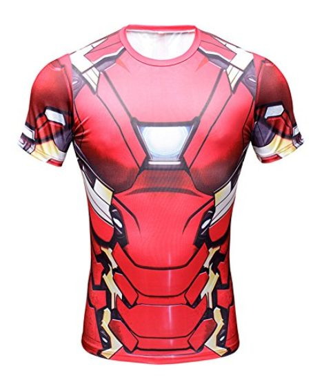 Superhero-Avengers-Iron-Man-3D-Mens-T-Shirt-Marvel-Costume-Gym-Cycling-Jersey-0