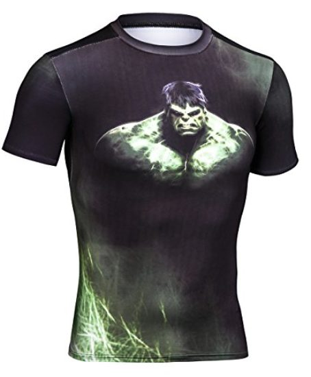 Topway-Mens-Compression-Short-Sleeve-Crewneck-Super-Heroes-T-shirt-Wicking-Tee-0
