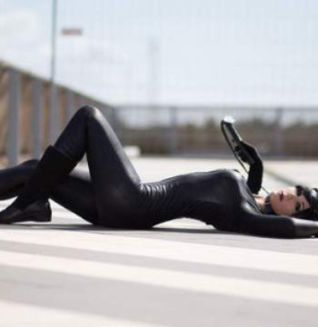 toxic hime laying down as catwoman