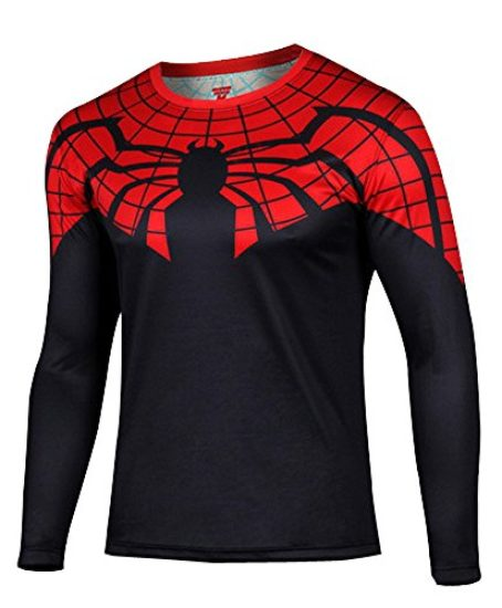 topway-Mens-Long-Sleeve-Crewneck-Super-Heroes-T-shirt-Quick-Dry-Wicking-Tee-0