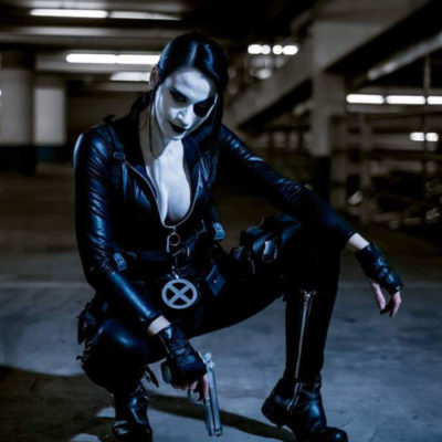 Katy DeCobray Looks Fierce As Domino From Marvel Comics